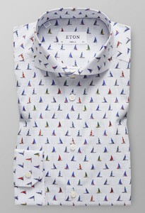 Eton Sailboat Shirt Wit