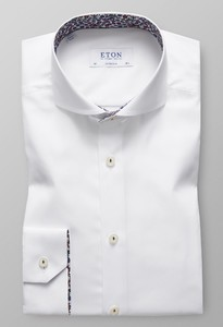 Eton Uni Floral Super Slim Wit