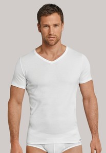 Schiesser Long Life Cool V-Neck Shirt Wit