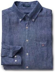 Gant Linnen Shirt Yale Blue
