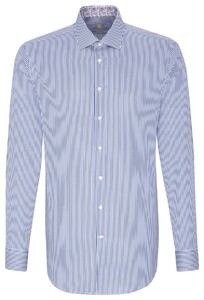 Jacques Britt Striped Business Contrast Donker Blauw