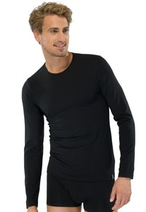 Schiesser 95-5 T-Shirt Lange Mouw Zwart