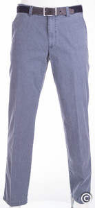 MENS Flat Front Structure Madrid Midden Blauw