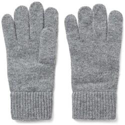 Gant Knitted Wool Gloves Dark Grey Melange