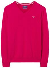 Gant Super Fine Lambswool V-Neck Raspberry Red