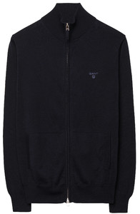 Gant Leight Weight Cotton Zipcardigan Navy