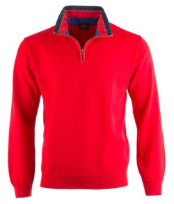 Paul & Shark Three-In-One Flag Collar Contrast Rood
