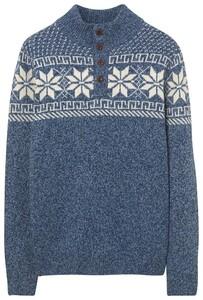 Gant Holiday Button Stone Blue Melange
