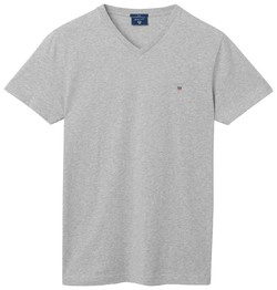Gant The Original Fitted V-Neck Licht Grijs