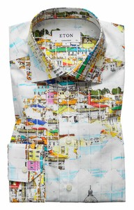 Eton Skyline Shirt Multicolor