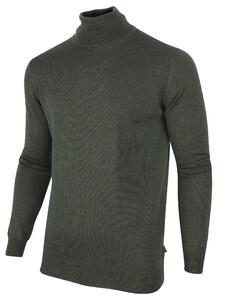 Cavallaro Napoli Merino Roll Neck Pullover Donker Groen