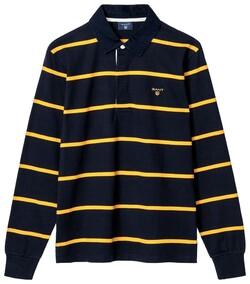Gant Breton Stripe Heavy Rugger Avond Blauw
