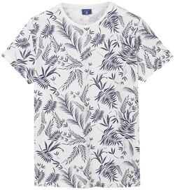 Gant Leaf Print T-Shirt Eggshell