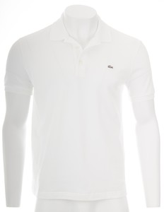 Lacoste Stretch Slim-Fit Mini Piqué Wit