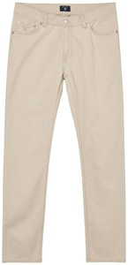 Gant Slim Straight Dusty Twill Jeans Zand