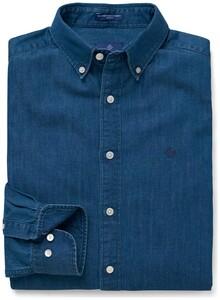 Gant Tech Prep Chambray Shirt Donker Indigo