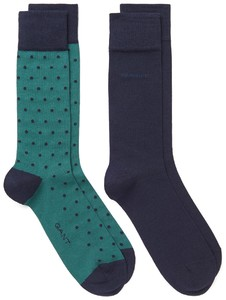 Gant 2Pack Dot And Solid Socks June Bug Green