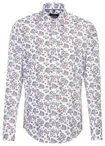 Seidensticker Paisley Covered Button Down Rosé