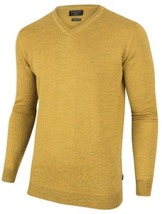 Cavallaro Napoli Merino V-Neck Pullover Geel