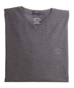 Paul & Shark Three in One Wool V-Neck Antraciet