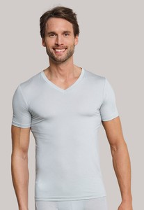 Schiesser Personal Fit Mesh V-Neck Shirt Silver