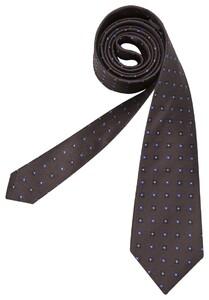 Seidensticker Mini Flower Tie Blauw-Bruin