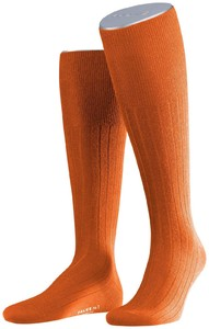 Falke No. 2 Finest Cashmere Kniekousen Fine Orange