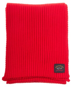 Paul & Shark Bretagne Plain Scarf Rood