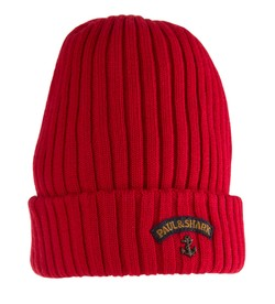 Paul & Shark Bretagne Knitted Hat Rood