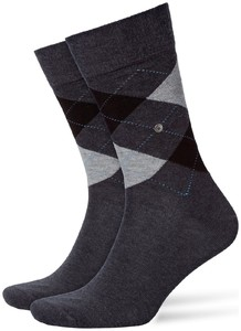 Burlington King Socks Zwart-Antraciet