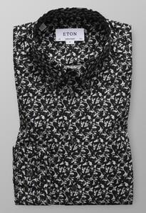 Eton Fox Shirt Licht Grijs Melange