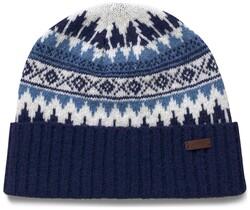 Gant Fairisle Knit Beanie Persian Blue