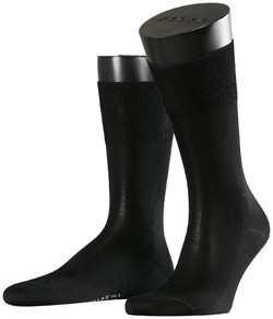 Falke No. 4 Pure Silk Socks Zwart