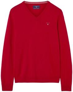 Gant Super Fine Lambswool V-Neck Bright Red