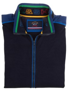Paul & Shark Competition Shark Contrasted Cotton Vest Navy