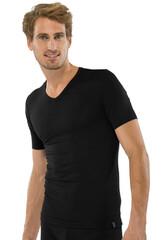 Schiesser 95-5 T-Shirt Zwart