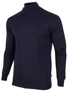 Cavallaro Napoli Merino Roll Neck Pullover Navy