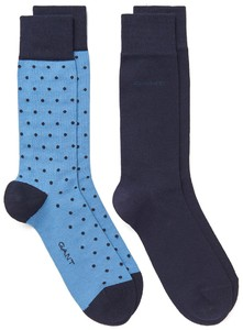 Gant 2Pack Dot And Solid Socks Salty Sea