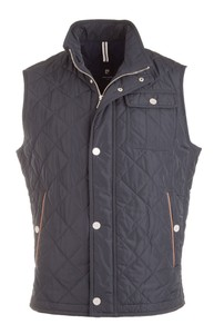 Pierre Cardin Diagonal Step Body-Warmer Navy