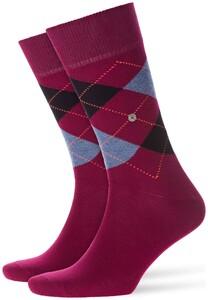 Burlington King Socks Wineberry