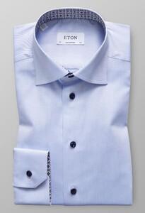 Eton Medallion Detail Licht Blauw
