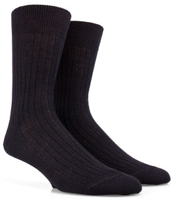 Doré Doré Rib Sock Mixed Wool Black