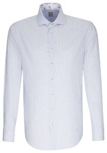 Jacques Britt Striped Casual Contrast Licht Blauw