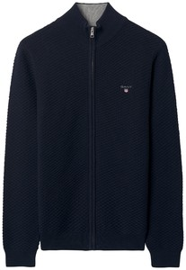 Gant Triangle Texture Fullzip Evening Blue