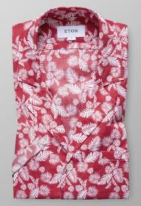 Eton Palm Print Resort Roodroze