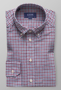 Eton Button Down Check Multicolor