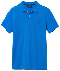 Gant The Summer Pique Polo Midden Blauw