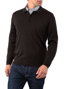 Maerz Polo Lange Mouw New Brown