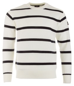 Paul & Shark Bretagne Merino Extrafine Stripe Off White