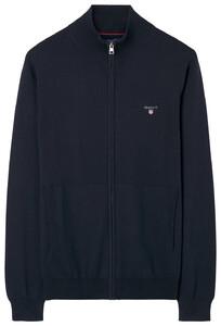 Gant Cotton-Wool Vest Navy